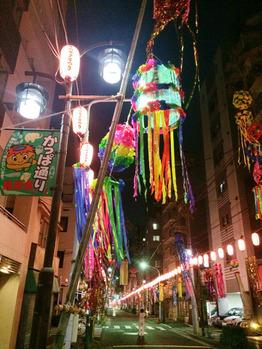 合羽橋商店街の七夕祭り