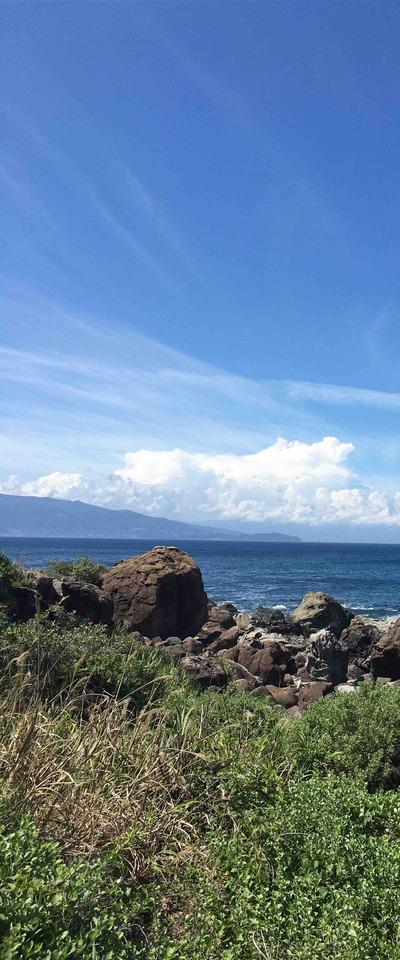 初島から見た海の景色