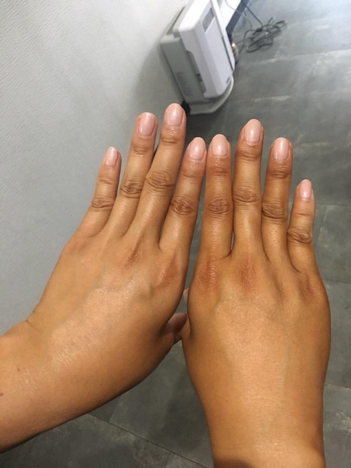 ボディカラーリング ウルトラダークと新色の手の色の違い
